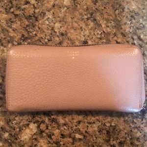 Light Pink Fossil Wallet